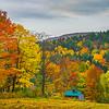 Cabin In Autumn Woods