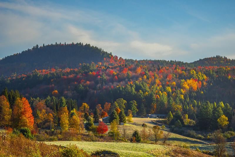 Firtst Morning Light Tops The Vermont Valleys