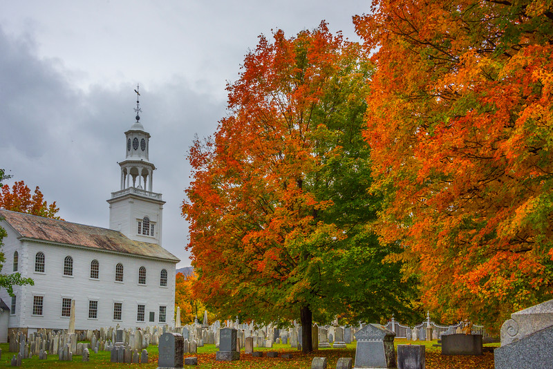 Autumn In Small Town Vermont Cementry