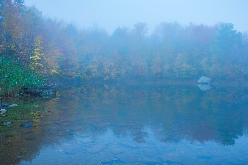 Quiet Foggy Morning Down At The Lake