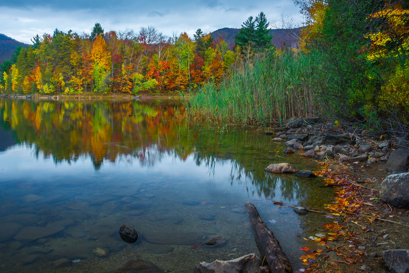 One Of Many Views Along Chittenden Reservoir_