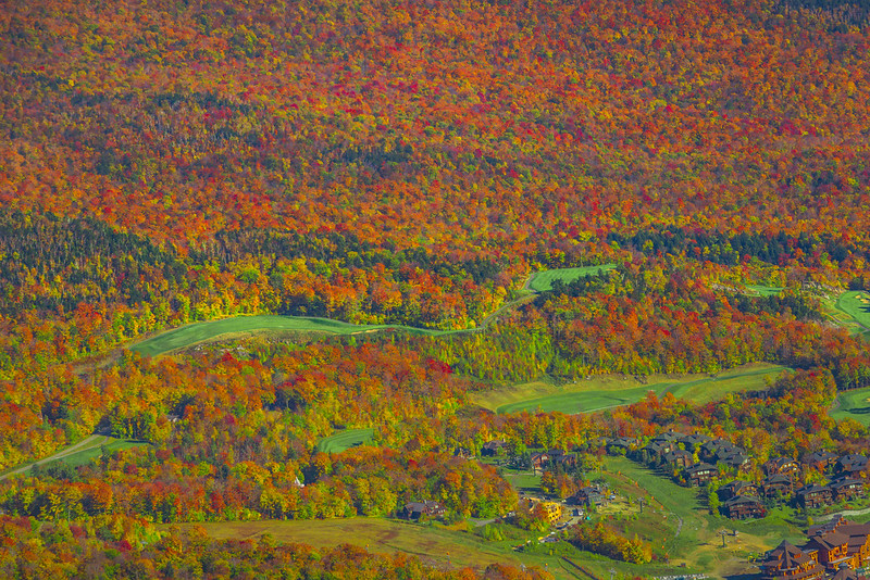 Looking Down On Vermont Colors From An Aerial Perspective