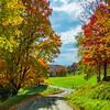 Bending Roads Throiugh The Autumn Colors