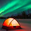 Parked Under The Green Lit Sky -Chena Hot Springs Resort, Fairbanks, Alaska