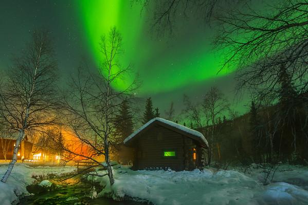Riverside Cabins Along The River -Chena Hot Springs Resort, Outside Fairbanks, Alaska