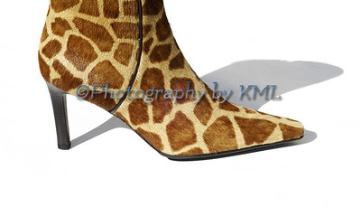 High Heel Giraffe Skin Boot