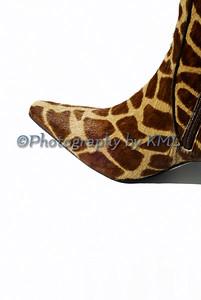 Toe of Giraffe Skin Boot