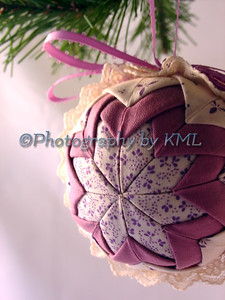 Purple Quilted Ornament