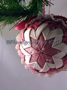 Pink Quilted Ornament