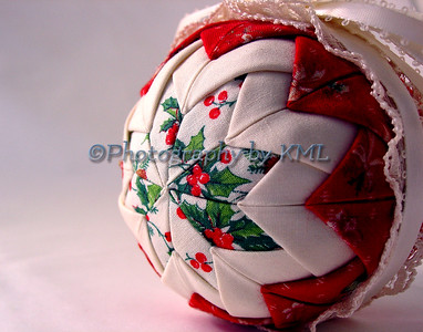 Red Quilted Ornament
