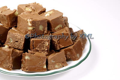 Fudge on Plate