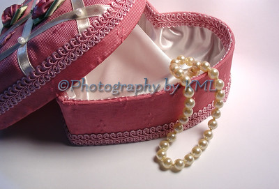 Heart Box and Pearls