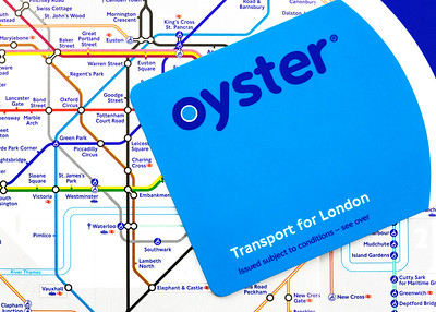Oyster Card on London Tube Map