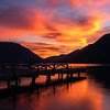 Solitude Under A Blood Red Sky - Lake Crescent Lodge, Olympic National Park, WA
