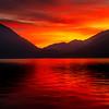 Lake Crescent Sunset Silhouettes - Lake Crescent Lodge, Olympic National Park, WA
