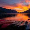 Fires Ablaze At Lake Crescent - Lake Crescent Lodge, Olympic National Park, WA