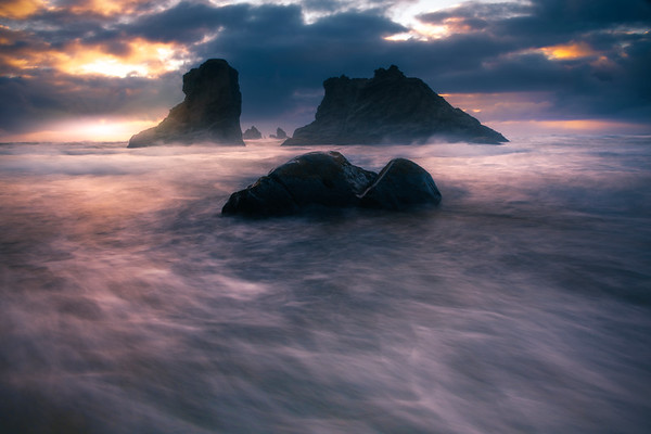 Gentle Flow Of The Ocean - Bandon Beach, Oregon Coast