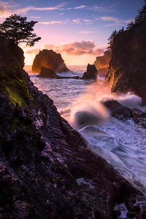 LookingDownCoast_SecretBeach -Secret Beach, Southern Oregon Coast, Oregon