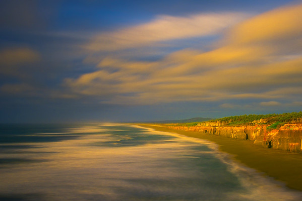Long Exposure Over The Bluffs-Blacklock Point, Floras Lake State Park, Oregon Coast, OR