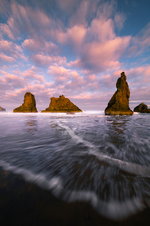 As The Rush Comes - Bandon Beach, Oregon Coast