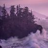Haystack And Big Wave Splashes - Samuel Boardman State Park, Southern Oregon Coast