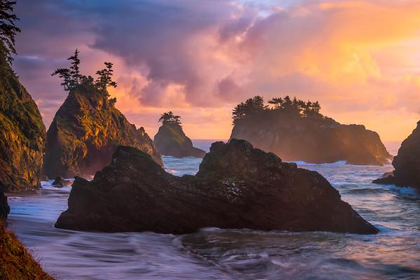 The Guardian Of Haystacks -Secret Beach, Southern Oregon Coast, Oregon