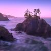 Warm Glow Surrounds Boardman Rocks - Samuel Boardman State Park, Southern Oregon Coast