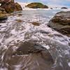 Swirls Around Rocks - Harris Beach, Southern Oregon Coast, Oregon