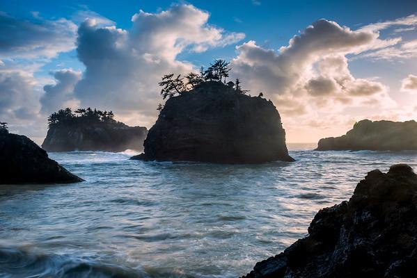 Secret Beach Before Sunset -Secret Beach, Southern Oregon Coast, Oregon