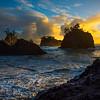 The Shaft Of Light -Secret Beach, Southern Oregon Coast, Oregon