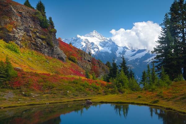 Mt Shuksan After Fresh Snow And Tarn - North Cascades National Park, WA