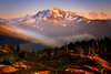 Mt Baker From The Cascades Near Sunset - North Cascades National Park, WA
