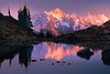 Mount Shuksan In Pink Glory - North Cascades National Park, WA