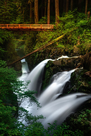 Sol Duc Falls And New Bridge - Sol Duc Falls, Sol Duc Valley, Olympic National Park,, Washington