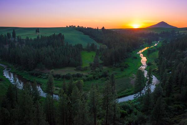 Horseshoe Bend And Palouse River -The Palouse, Eastern Washington And Western Idaho