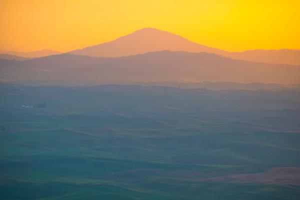 The Landscape Of Palouse From Steptoe -The Palouse, Eastern Washington