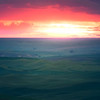 Sunset Glow Over The Rolling Hills - The Palouse Region, Washington