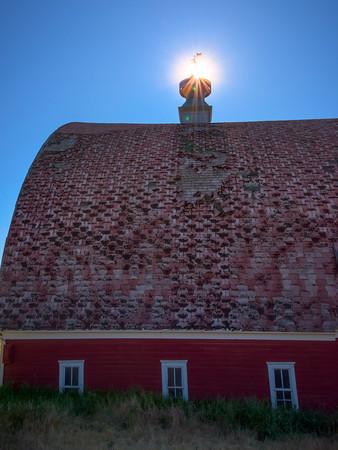 Sunstar And Textures -The Palouse, Eastern Washington And Western Idaho
