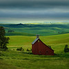 Moscow Barn Across Border In Idaho - The Palouse Region, Washington