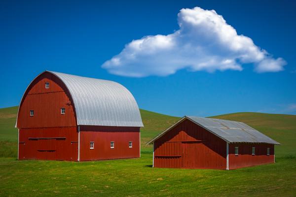 The Classic Double Barn In The Palouse -The Palouse, Eastern Washington And Western Idaho