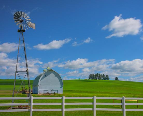The Idyllic Farm Scene -The Palouse, Eastern Washington And Western Idaho