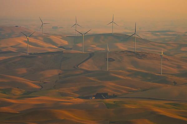 The Wind Turbines Introduced Into The Palouse - Steptoe Butte State Park, Palouse, Eastern Washington