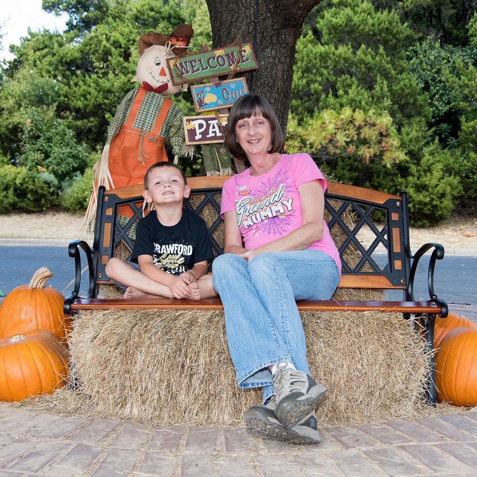 Travis in the Pumpkin Patch 10-27-2016