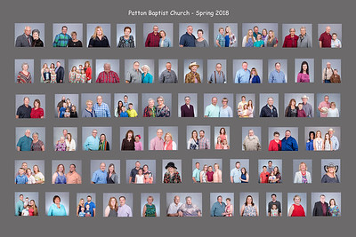 Patton Baptist Church photo board - Proof