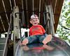 Little Man on the big slide