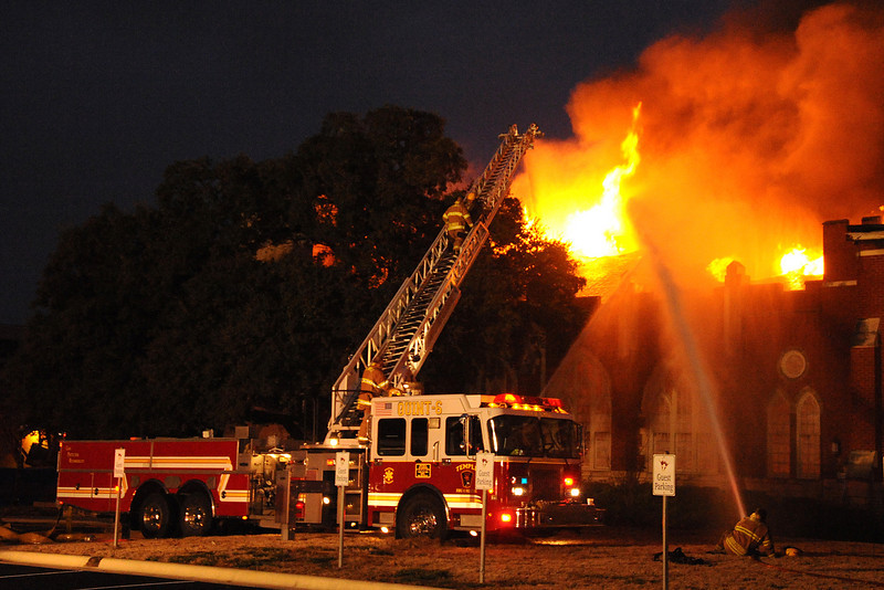 Fire at the First Baptist Church of Temple 1-20-2010