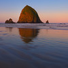 Sunrise color at Cannon Beach along the Oregon coast