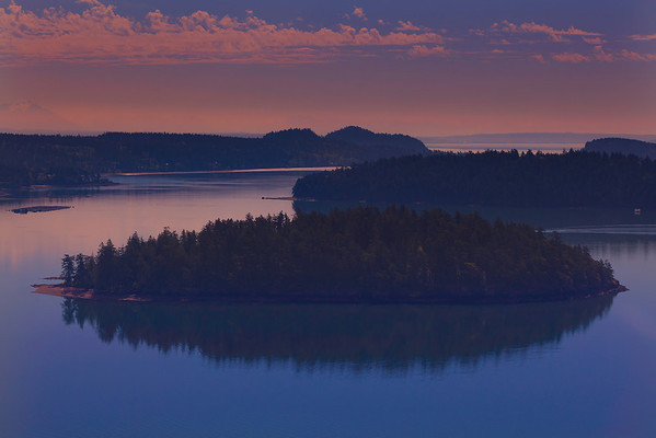 Aerial Views from helicopter of Deception Pass and the San Juan Islands