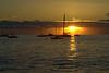 Lahaina - Mala Wharf sunset with Molokai in distance, Lahaina HI