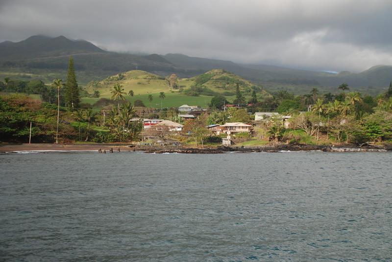 view of cross from hana bay